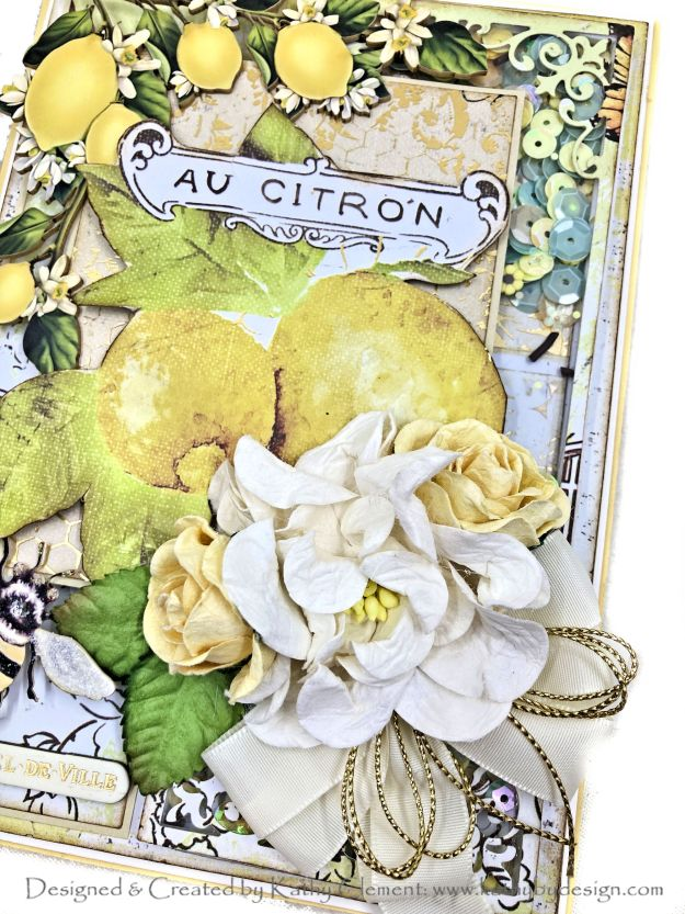 Reneabouquets Honey Roses and Gardenias Prima Fruit Paradise Shaker Card by Kathy Clement Photo 01