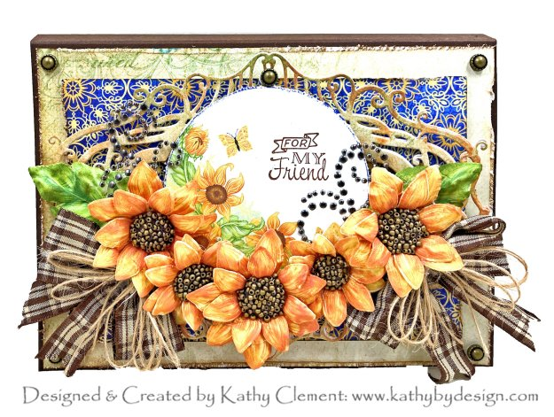 Heartfelt Creations Rustic Sunflowers by Kathy Clement Photo 01