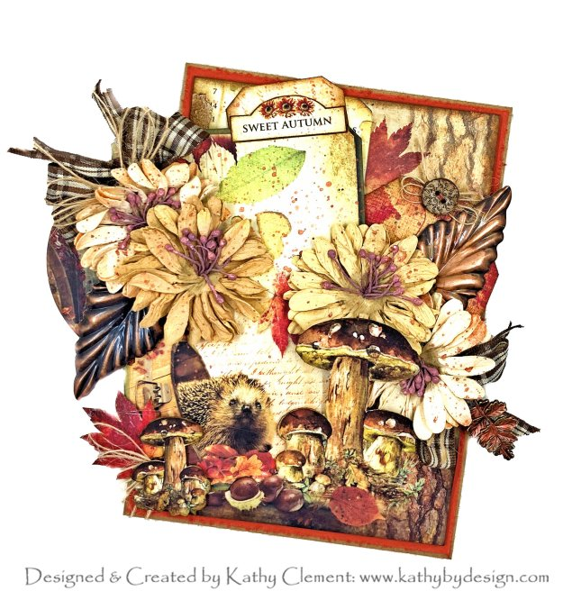 Ciao Bella Sound of Autumn Card Tutorial by Kathy Clement Photo 01