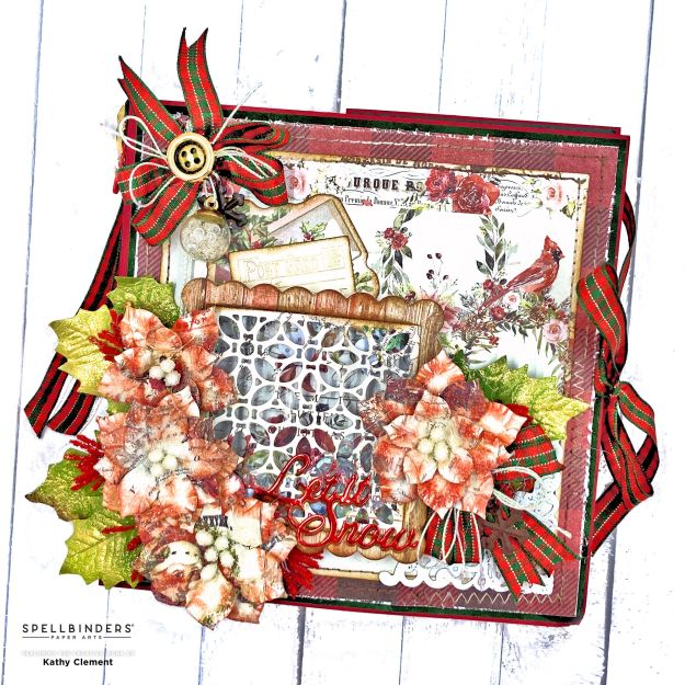 Prima Christmas in the Country Fold Out Card Folio by Kathy Clement Photo 01