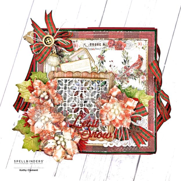 Spellbinders Amazing Paper Grace All Is Calm Word Frame Shaker Element by Kathy Clement Photo 01