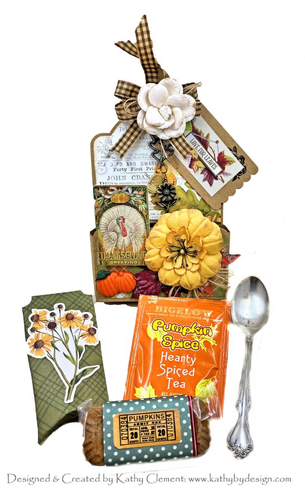 Graphic 45 Large Kraft Tag Treat Pocket by Kathy Clement Photo 01