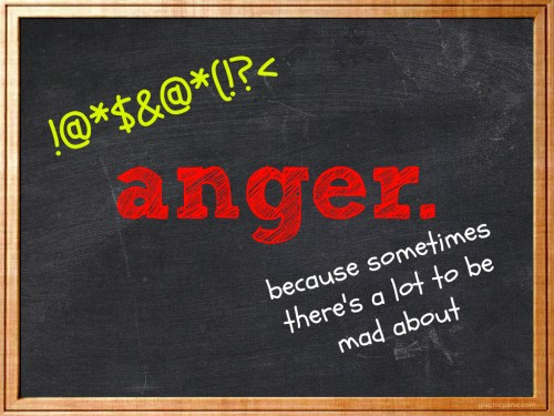 anger chalkboard