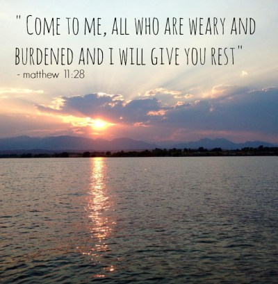come to me all you who are weary
