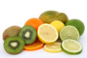 Vitamin C rich fruits: kiwi, oranges, limes.