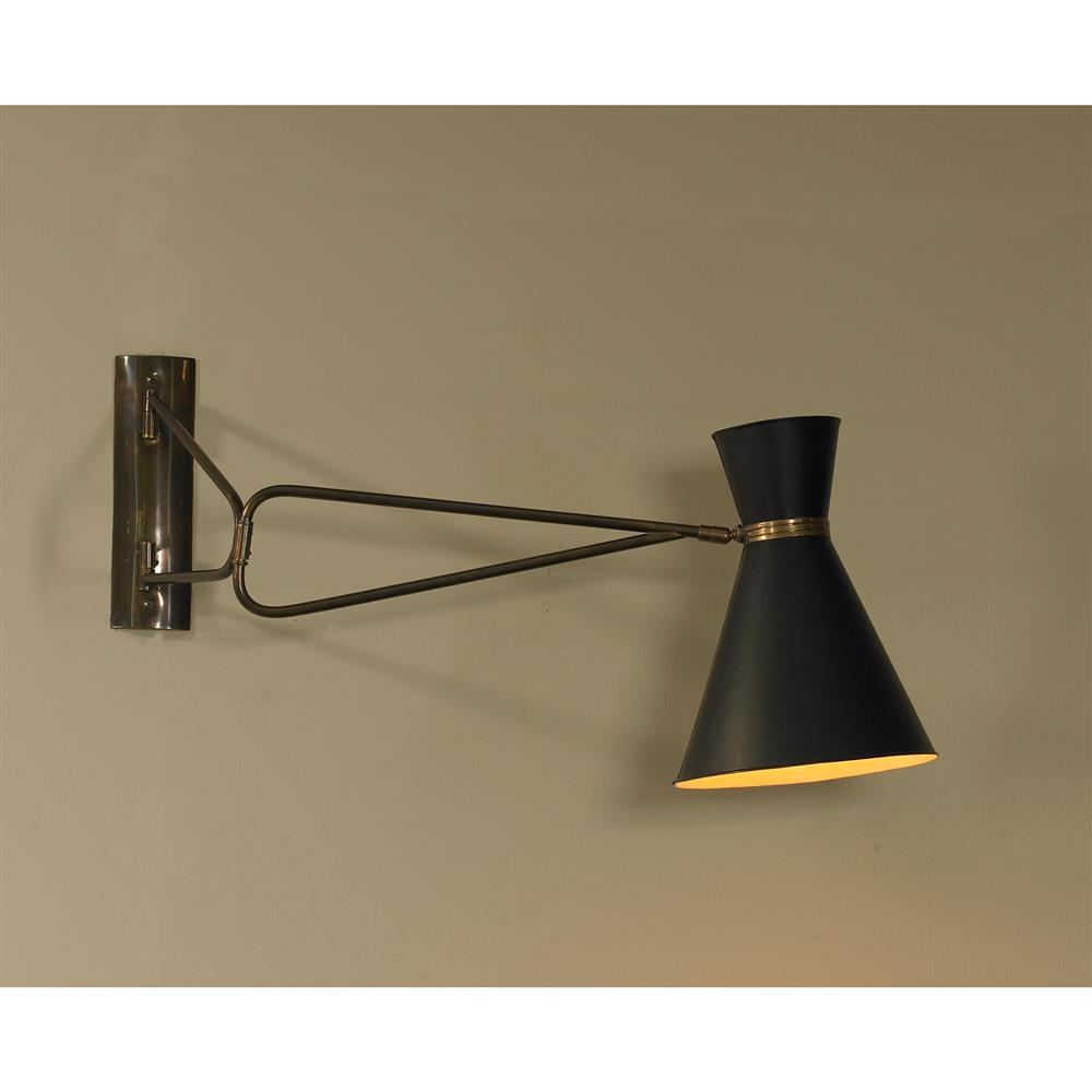 Mr. Brown Bergamo Industrial Modern Mid Century Black ... on Mid Century Modern Sconces id=32785