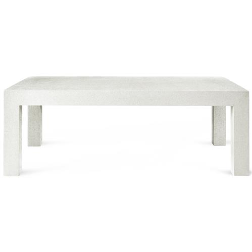 bungalow 5 parsons modern classic white lacquer grasscloth rectangular coffee table