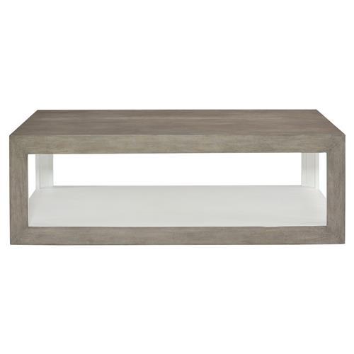 marqua coastal rustic grey wood white interior rectangular coffee table