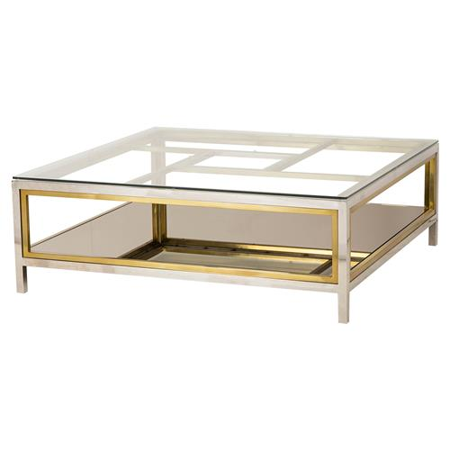 boyd windmill regency glass silver gold coffee table kathy kuo home