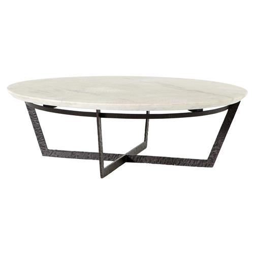 mathers industrial loft white marble round iron round coffee table