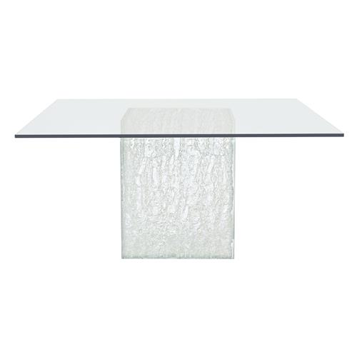 uma modern classic square glass top acrylic base dining table