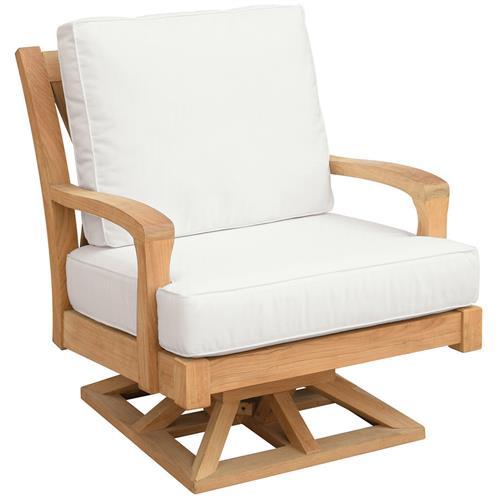 kingsley bate somerset french country teak outdoor swivel rocker chair