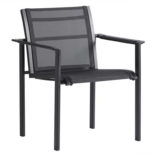 tommy bahama south beach modern black sling outdoor dining arm chair
