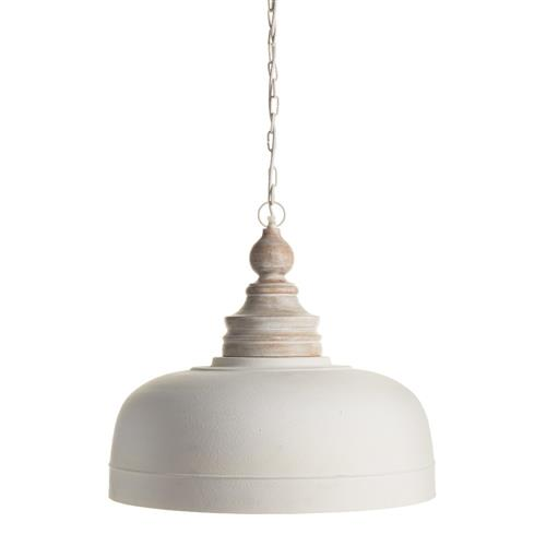 claud french country wooden white pendant
