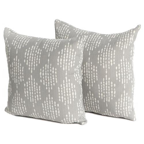 eva modern classic grey diamond pattern outdoor throw pillows set of 2