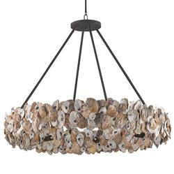 Oyster Shell Coastal Beach Ring Chandelier