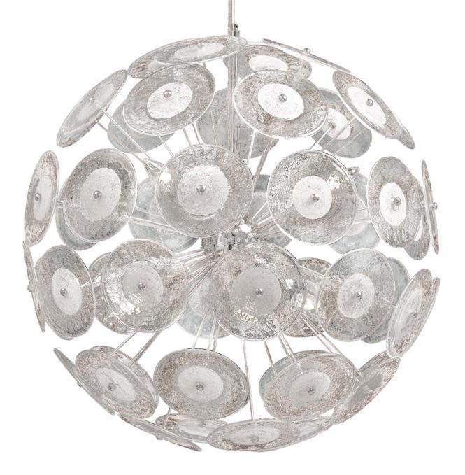 Modern Dandelion Glass Ball 6 Light Pendant Chandelier Kathy Kuo Home