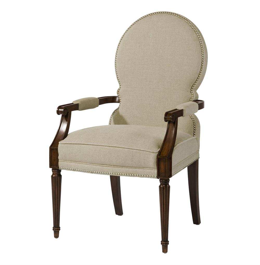 This chair has an attractive modern design and comes in either black or white grey. Sadie Venetian Rounded Back Natural Linen Dining Arm Chair ...