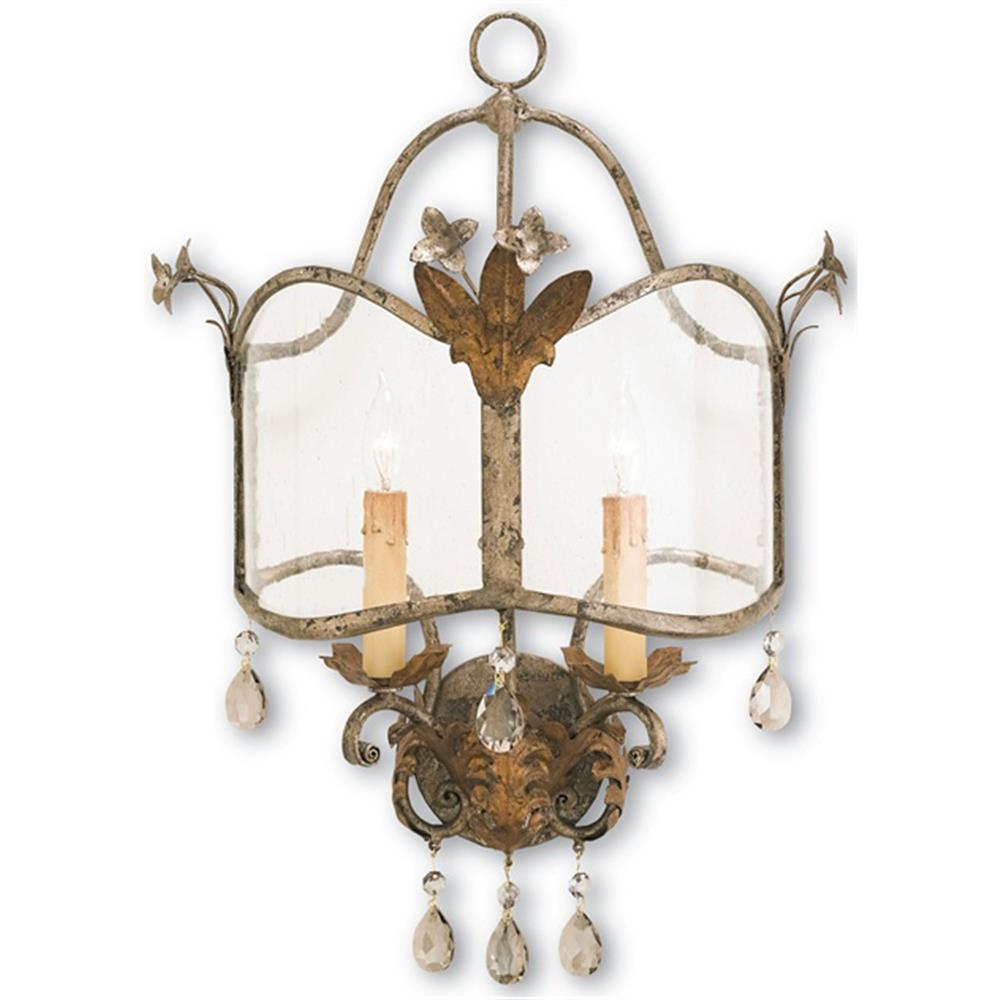 Spanish Revival Antique Gold Silver Decorative Wall Sconce ... on Vintage Wall Sconces id=70014