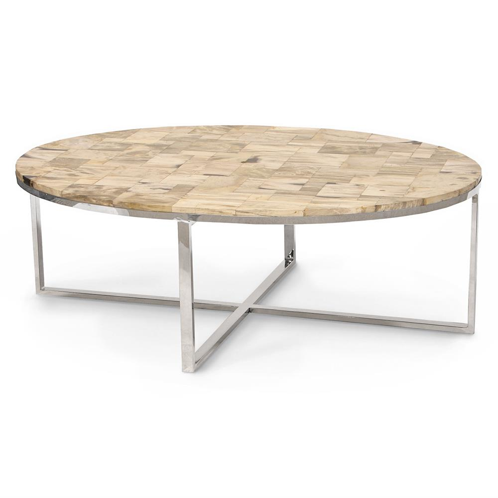 Cream Wood Coffee Table