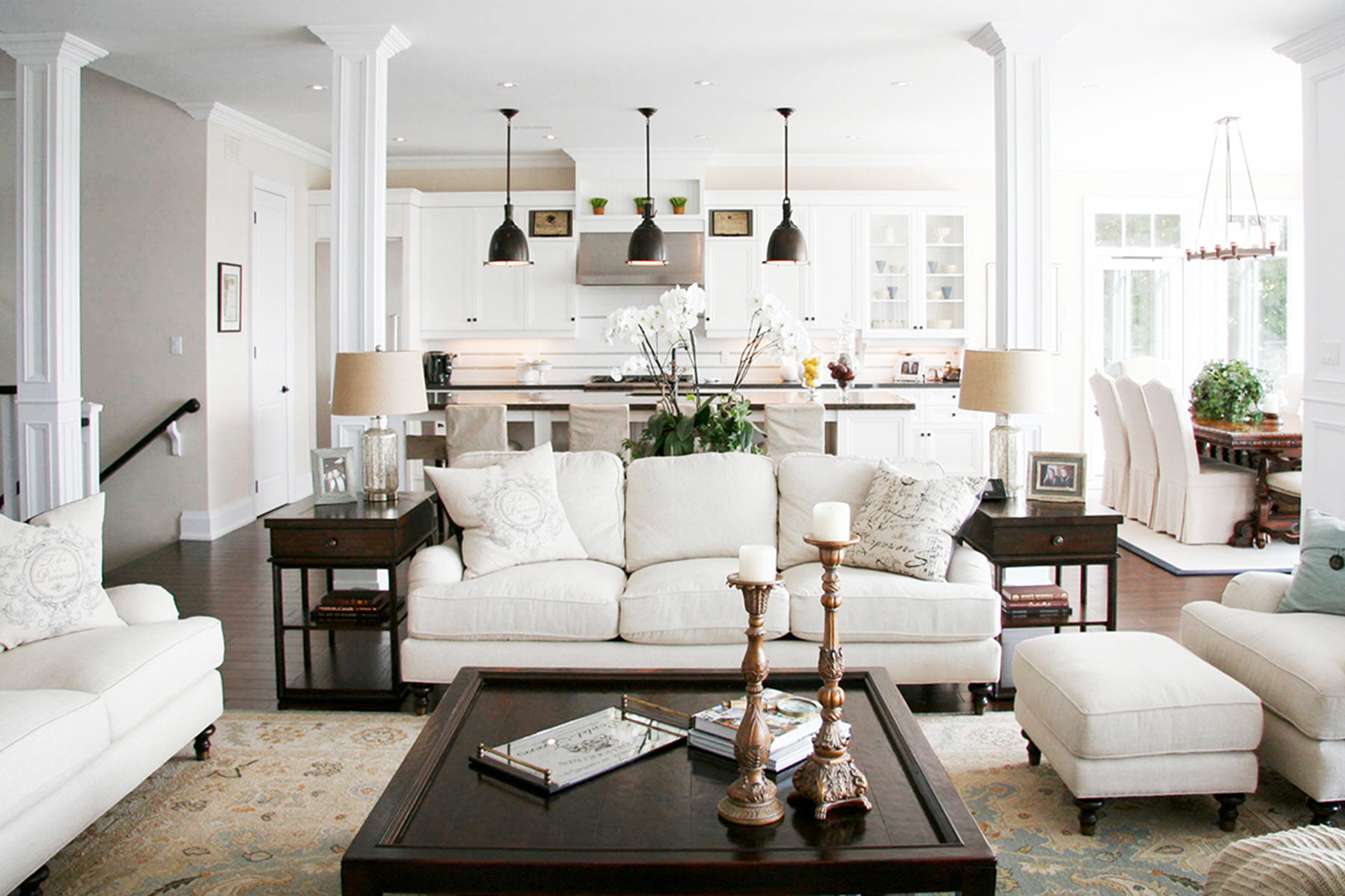 6 Design Tips For An Open Floor Plan Home Design Kathy Kuo Blog Kathy Kuo Home