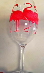 Flamingo Acrylic Wine Glass