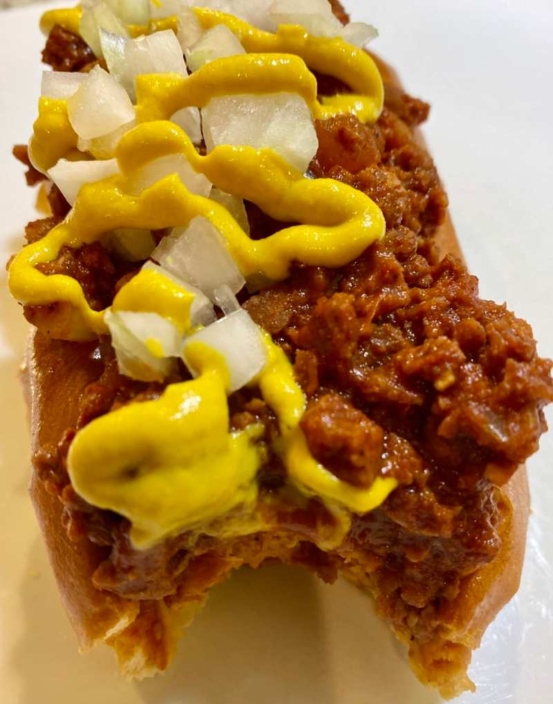 vegan chili dog