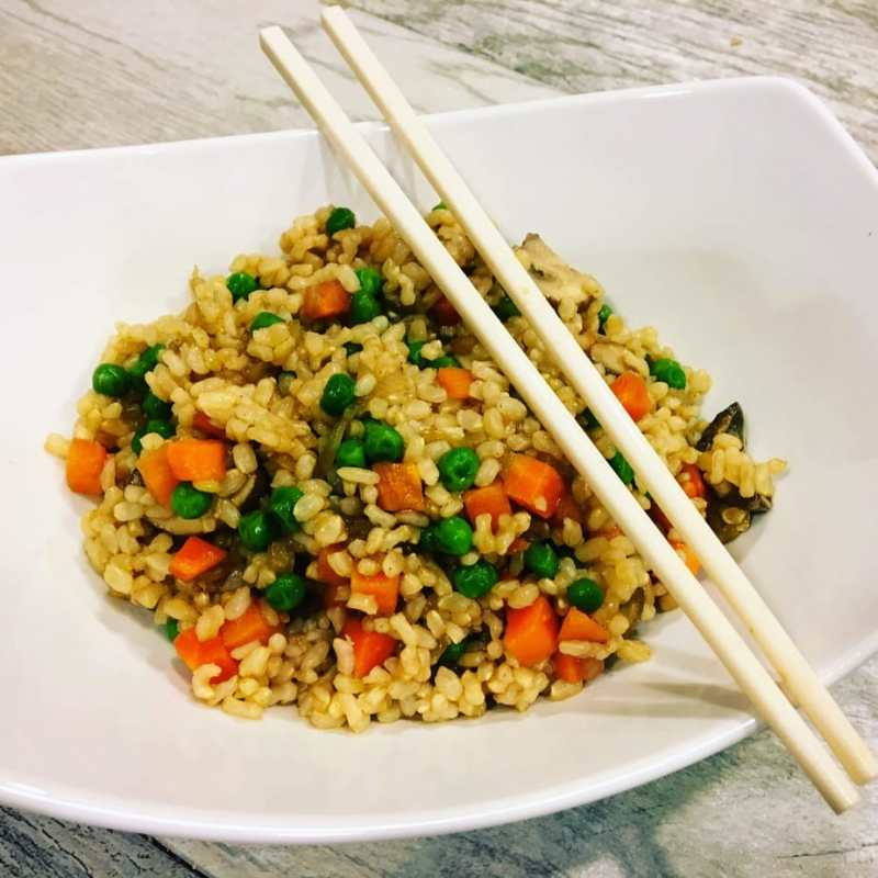 oil-free fried rice
