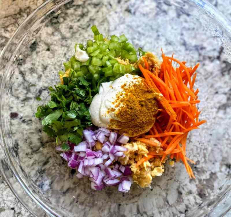 curry chickpea salad ingredients