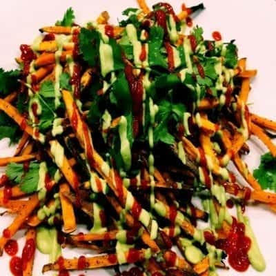 Baked Sweet Potato Vietnamese Loaded French Fries