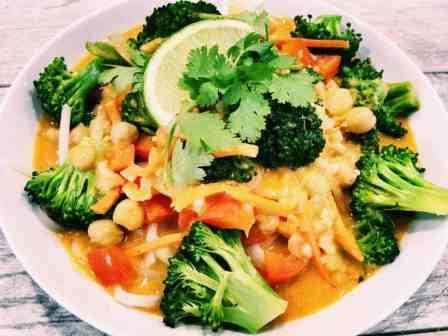 32650327283_6f0acbc80a_o-2-300x225 Vegan Panang Curry Noodle Bowl