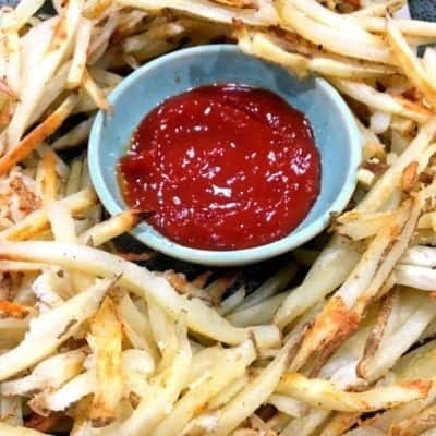 Perfect Crispy Oil-Free Garlic Oven Baked Fries