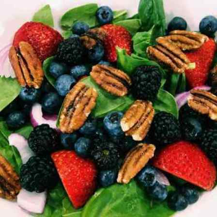 33961130764_f4c6bda791_o-3-300x300 Berry Blast Spinach Salad with Fat-free Viniargette Dijon Dressing: Eat to Live