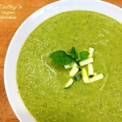 Vegan Basil Zucchini Soup