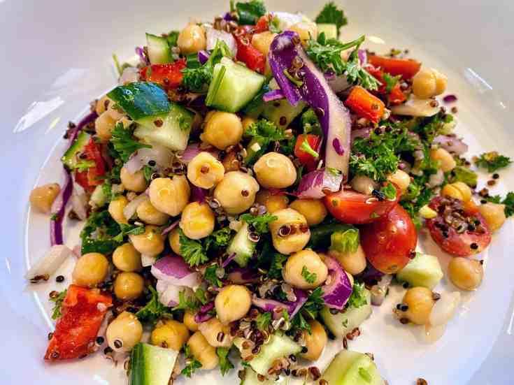 chickpea quinoa salad recipe