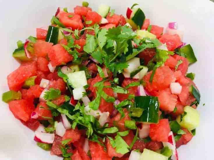 Skinny Watermelon Salsa