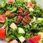 IMG_9360 Kale Harvest Salad with Skinny Roasted Pumpkin Vinaigrette