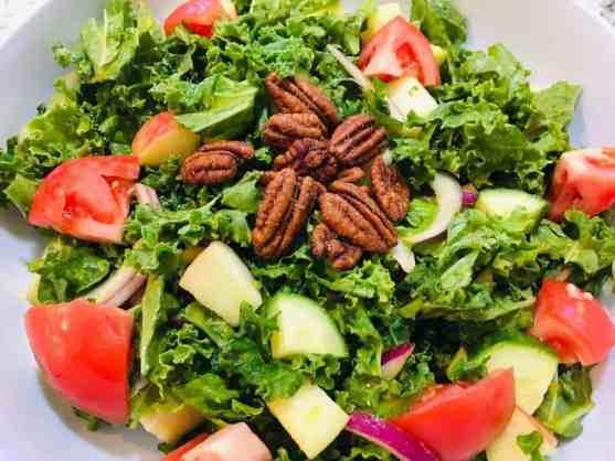 IMG_9360-300x225 Kale Harvest Salad with Skinny Roasted Pumpkin Vinaigrette