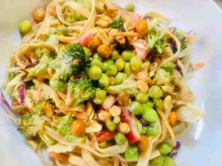 Vegan Thai Tahini Veggie Noodle Bowls