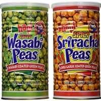 Hapi Hot Wasabi Peas + Spicy Sriracha Peas Combo Pack