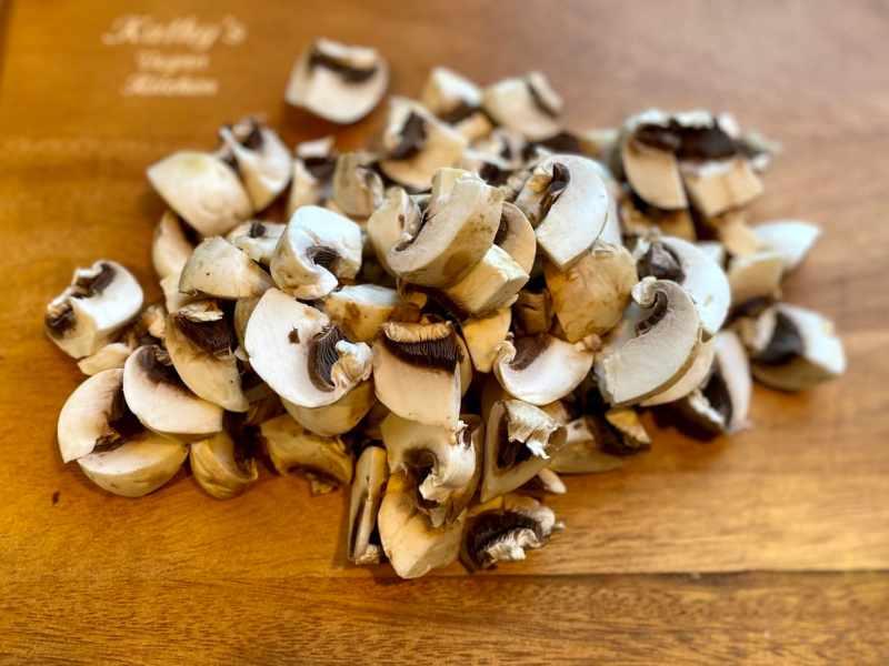 Chopped-mushrooms-1024x768 Vegan Clam Chowder Oh My!