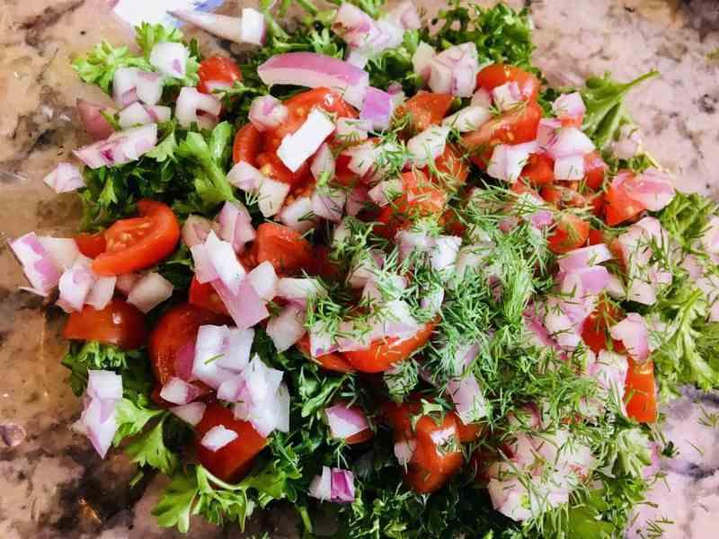 Parsley-SaladJPG-scaled Vegan Layered Greek Dip