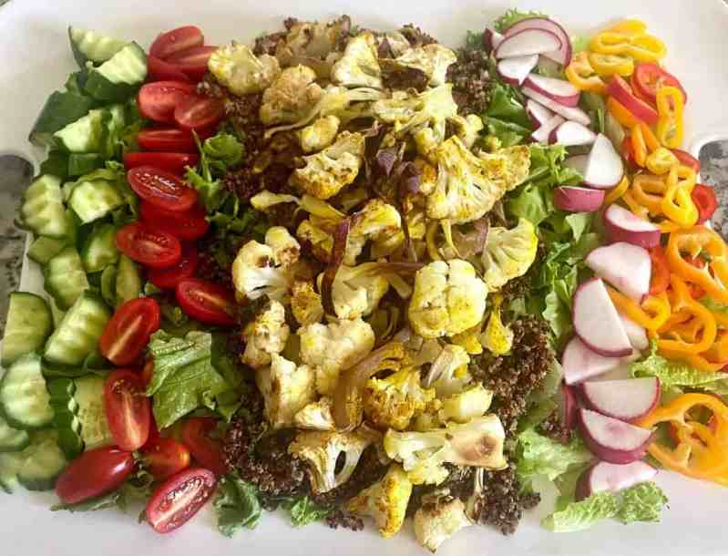 Cauliflower Salad Prepared