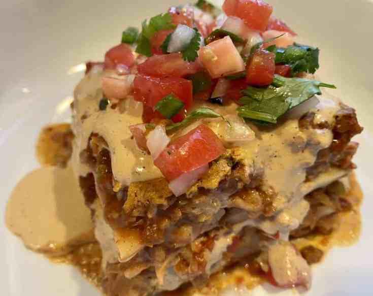 Vegetarian Mexican Lasagna Recipe