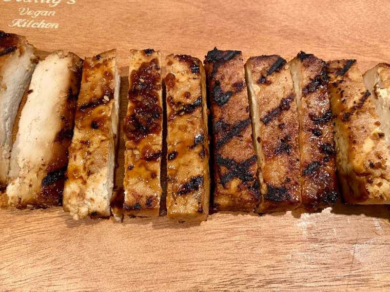 Teriyaki Tofu sliced