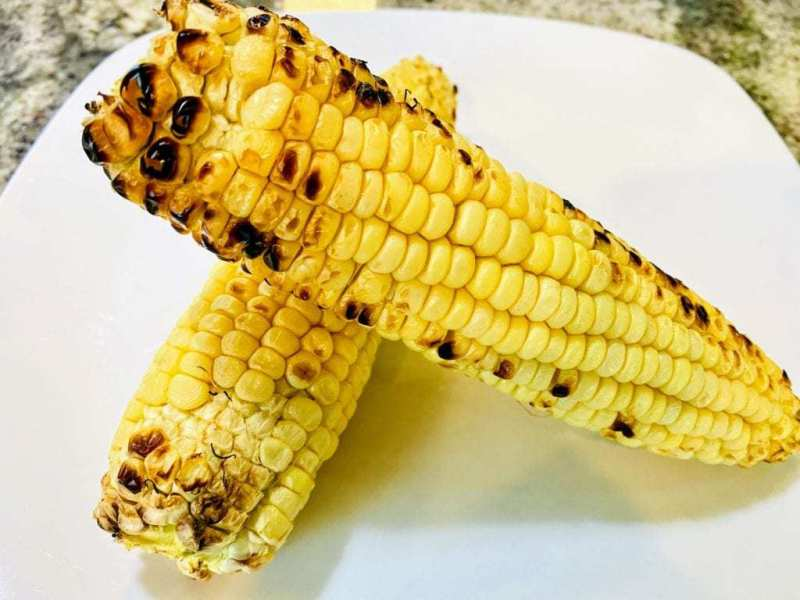 grilled corn vegan tortilla soup