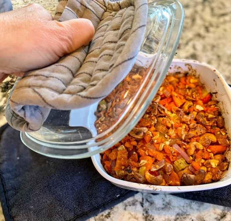 roasted-vegetables-for-carrot-soupjpg-1024x978 Vegan Carrot Soup