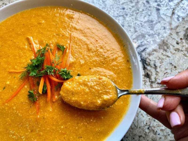 Vegan Carrot Soup Recipe