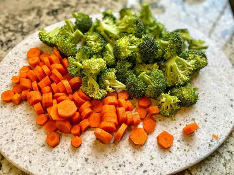 Broccoli and carrots
