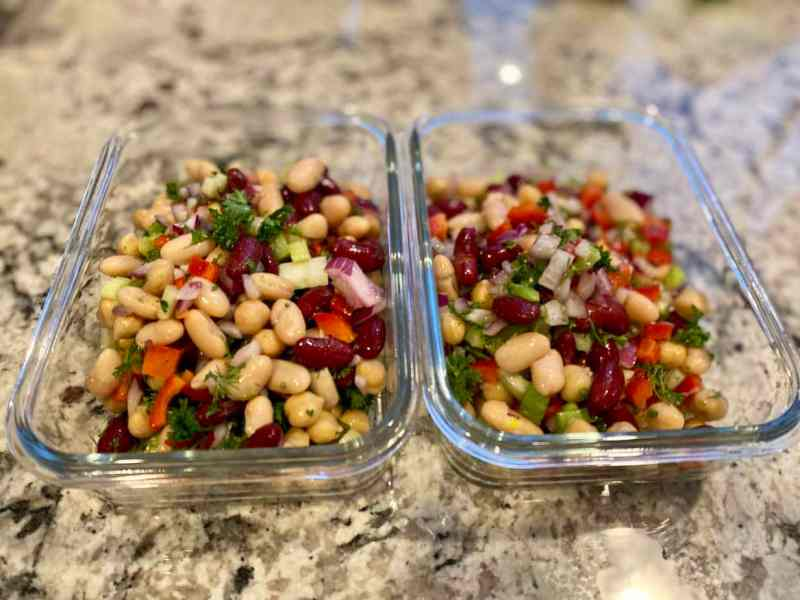 bean salad meal prep